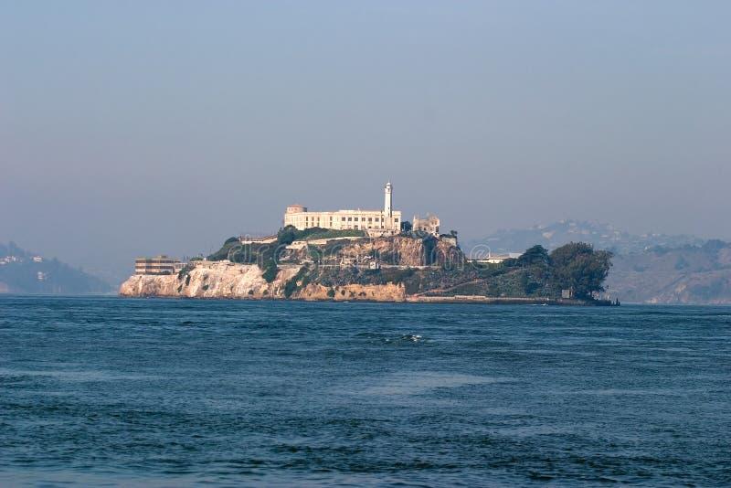 Prison d'Alcatraz, San Francisco Bay. image libre de droits