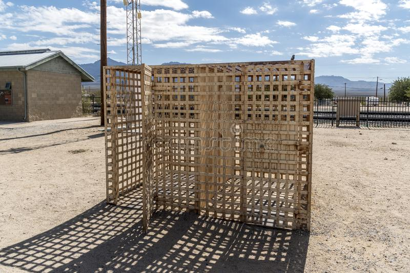 Prison de Kelso à la conserve de Mojave de dépôt de Kelso photo stock