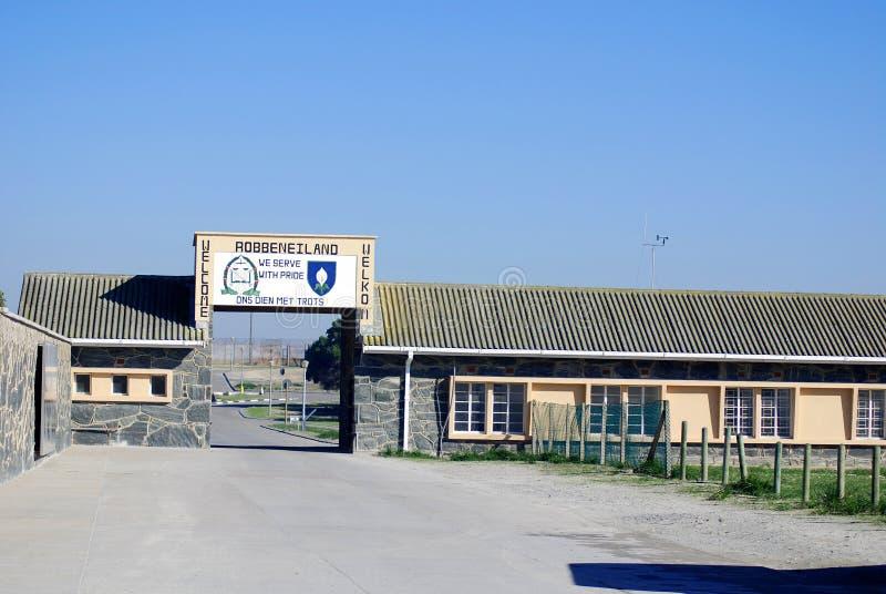 Prison extérieure d'île de Robben image stock