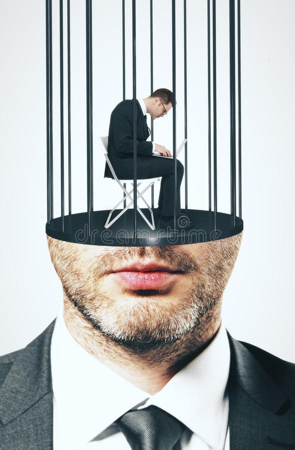 Prison headed male stock images