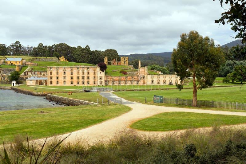 Prison historique de Port Arthur en Tasmanie image stock