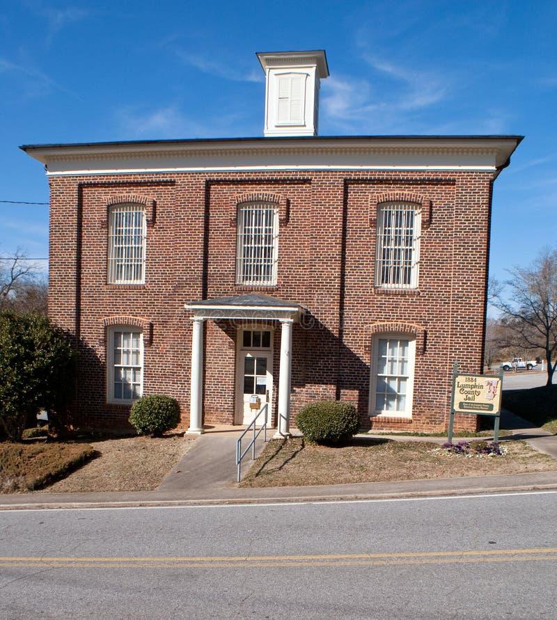 Prison historique du comté de Lumpkin dans Dahlonega la Géorgie photographie stock libre de droits