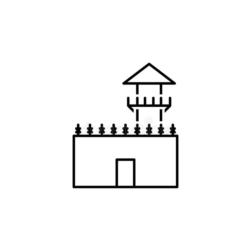 Prison icon. Element of legal services thin line icon. On white background vector illustration