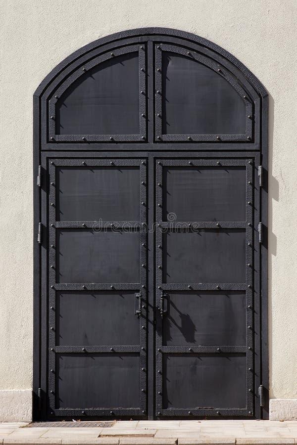 Prison iron door stock photo