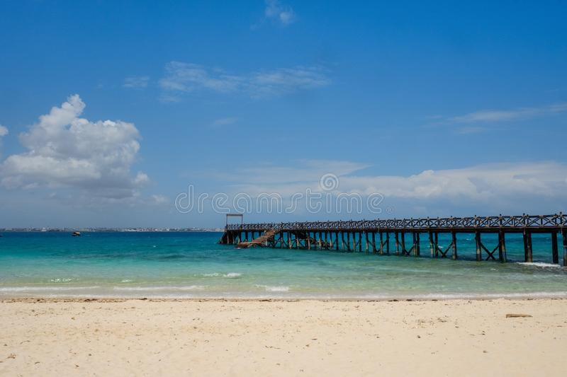 Prison Island. The beautiful scenery of Prison Island, with powder sand beaches and turquoise Ondian stock photos