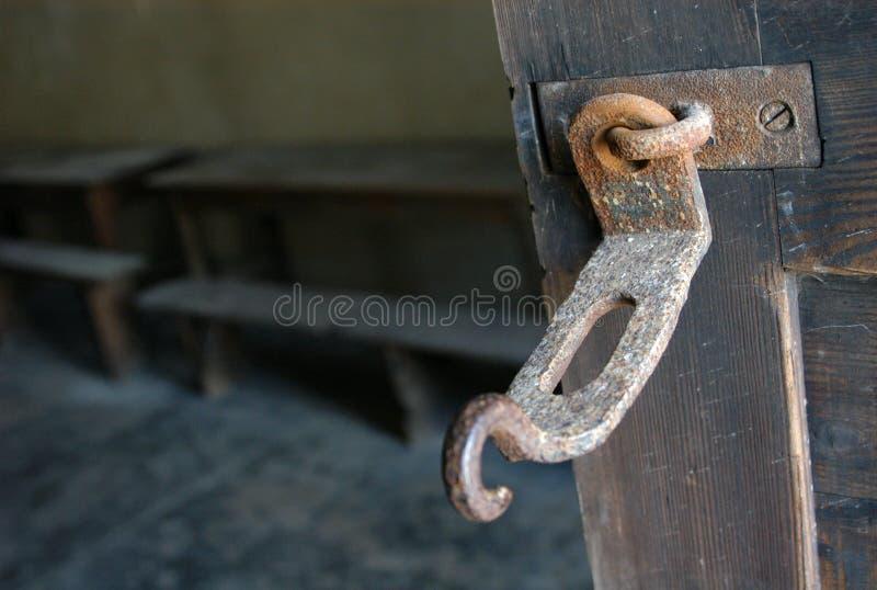 Prison Lock. Door lock in a nazi police prison in Terezin, Czech Republic royalty free stock images