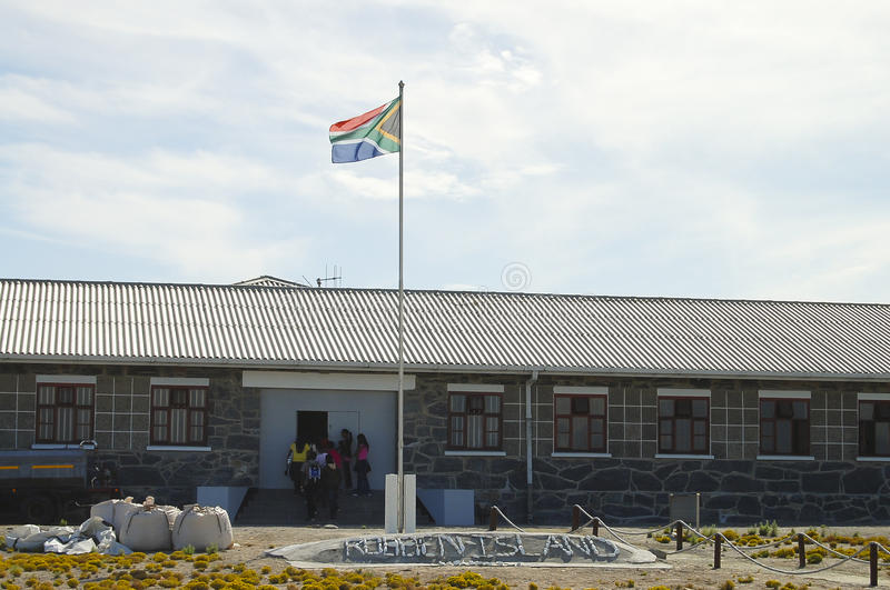 Prison maximum de sécurité sur l'île de Robben - Cape Town - Afrique du Sud photos libres de droits