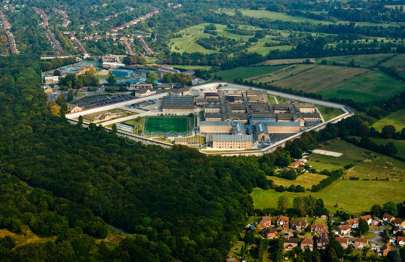 Prison near London. Birdseye view of the prison near London, UK royalty free stock images