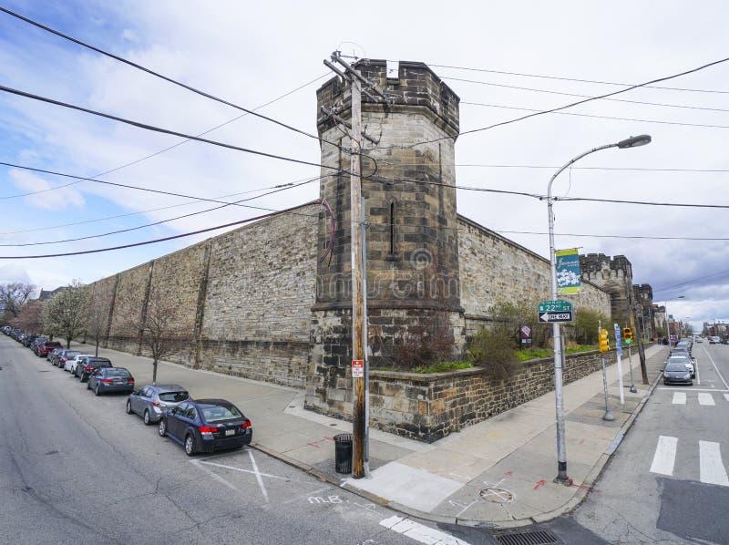 Prison orientale d'état à Philadelphie - à PHILADELPHIE - en PENNSYLVANIE - 6 avril 2017 photos stock