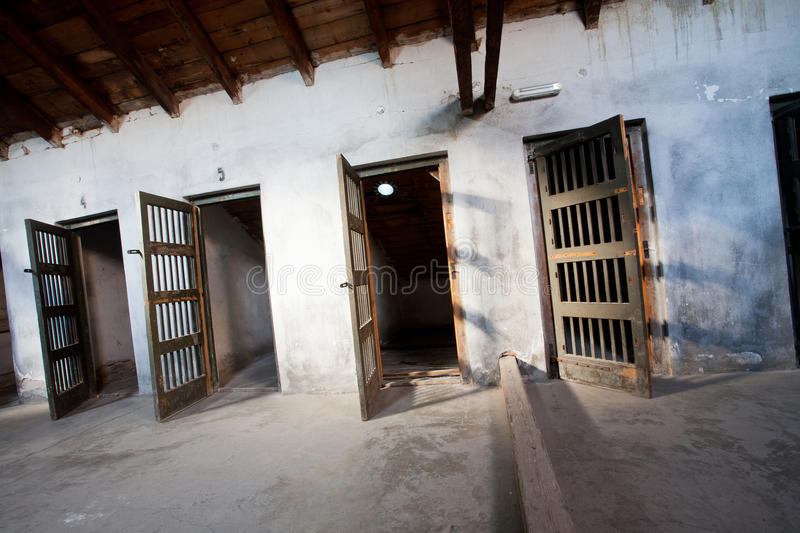 Prison rooms established in 1941 royalty free stock photo