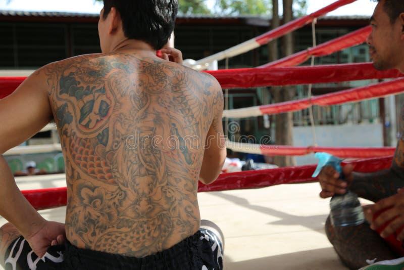 Prison thaïlandaise - une prière avant aube photo libre de droits