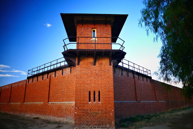 Prison Tower at Historic Gaol royalty free stock photography