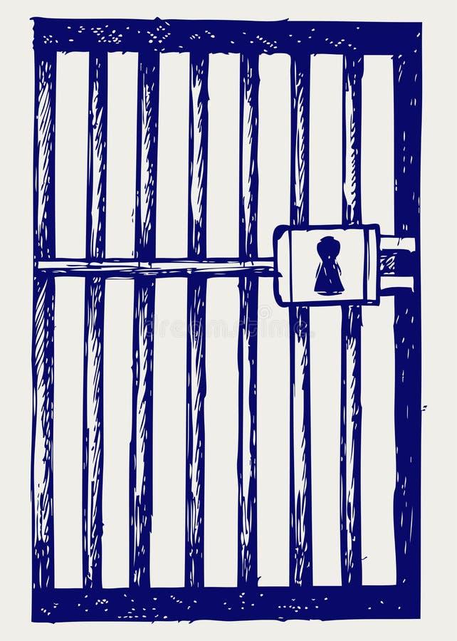 Prison. Type de griffonnage illustration libre de droits