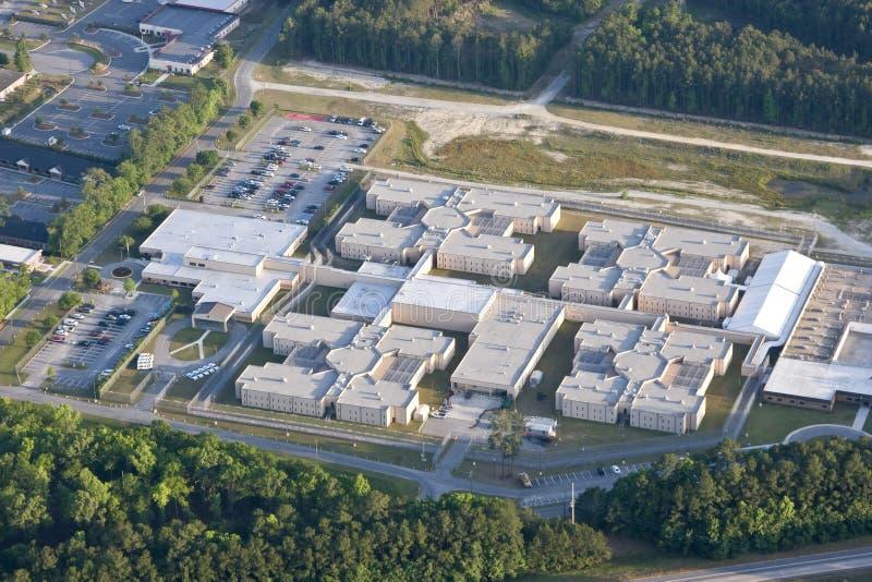 Prison, vue aérienne photos libres de droits