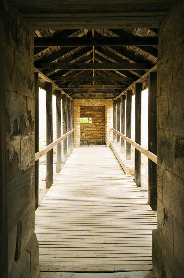 Prison Walkway. A convicts view of the Seperate Prison at Port Arthur, Tasmania stock image