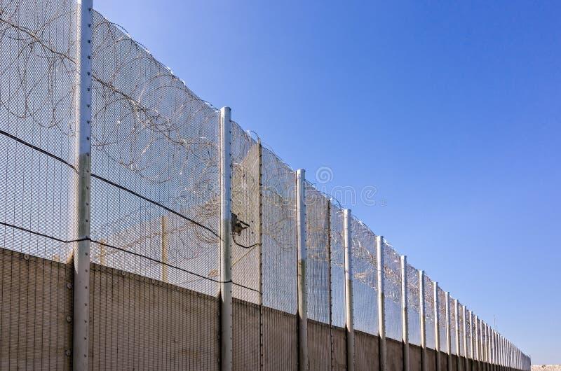 Prison Wall stock photo