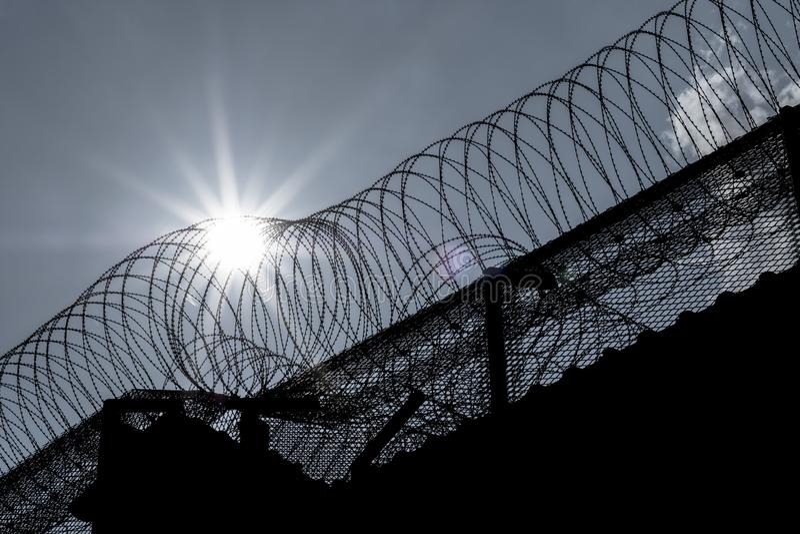 Prison Walls stock image