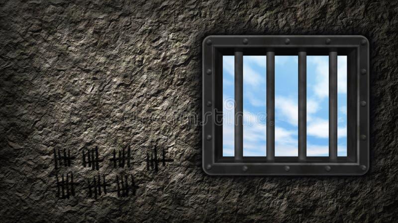 Download Prison window stock illustration. Illustration of incarceration - 23637659