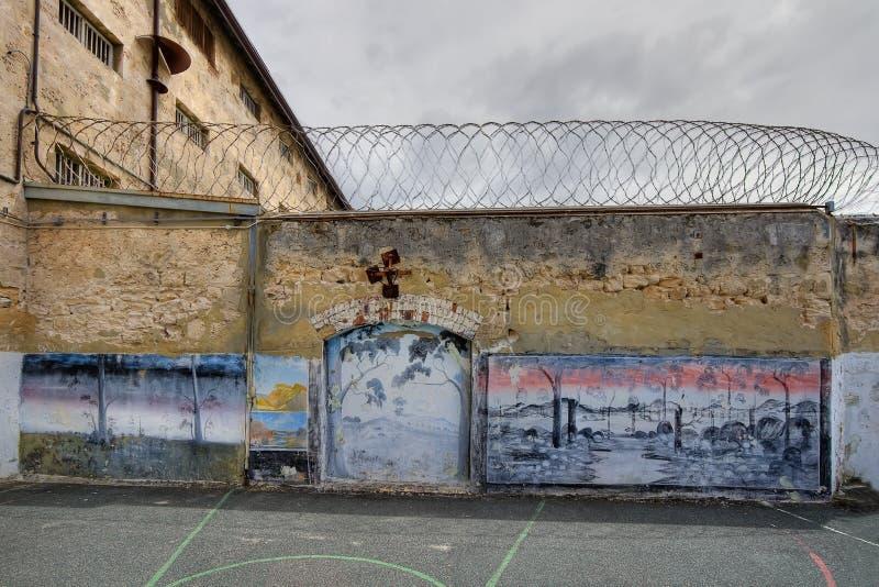 Prison Yard Artwork Stock Photo