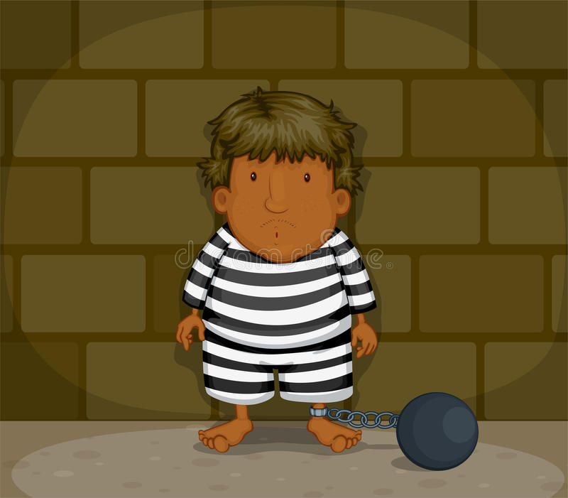 A Prisoner stock illustration