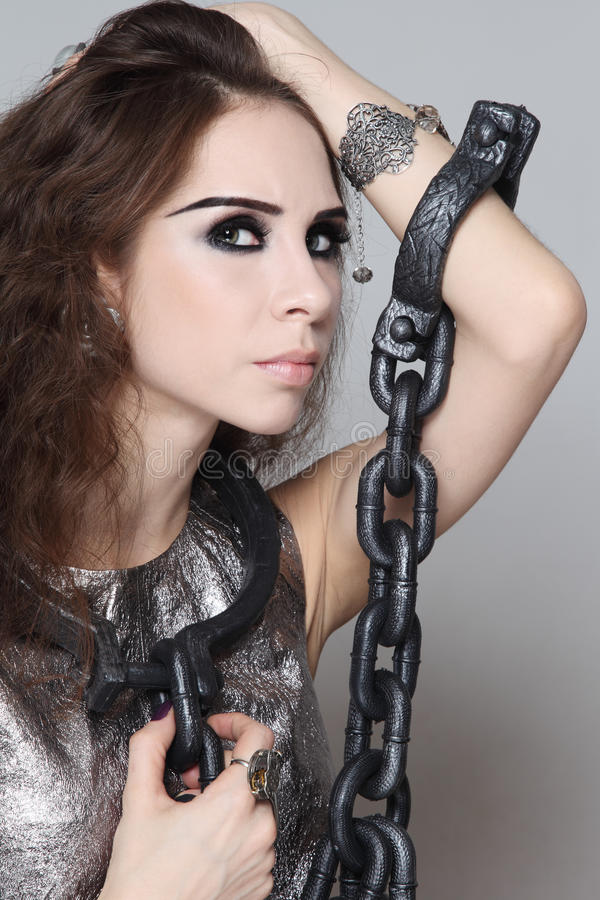 Download Prisoner stock image. Image of makeup, allure, handcuffs - 28805143