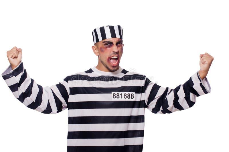Prisoner With Bad Bruises Stock Photo