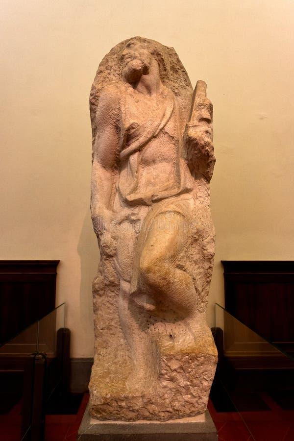 Prisoner slave Michelangelo, Galleria dell`Accademia, Florence, Italy stock image
