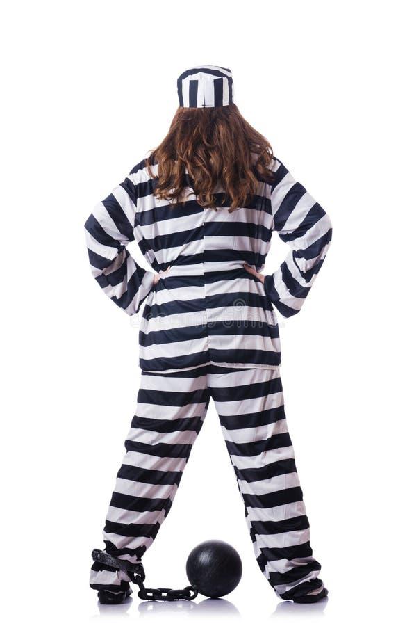 Download Prisoner In Striped Uniform Stock Photo - Image of chain, illegal: 29057714
