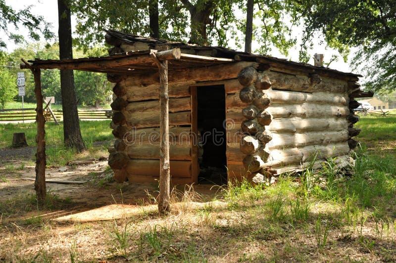 Prisoner of war log cabin stock images