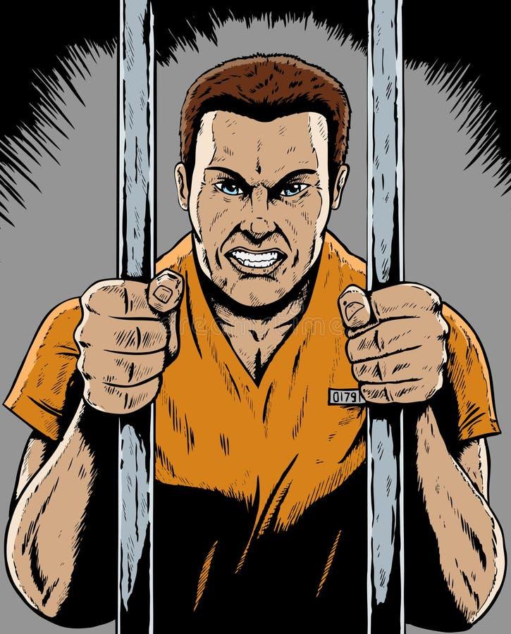 Prisonnier illustration libre de droits