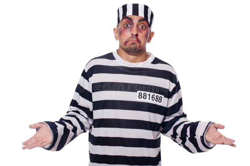 Prisonnier avec de mauvaises contusions photo libre de droits