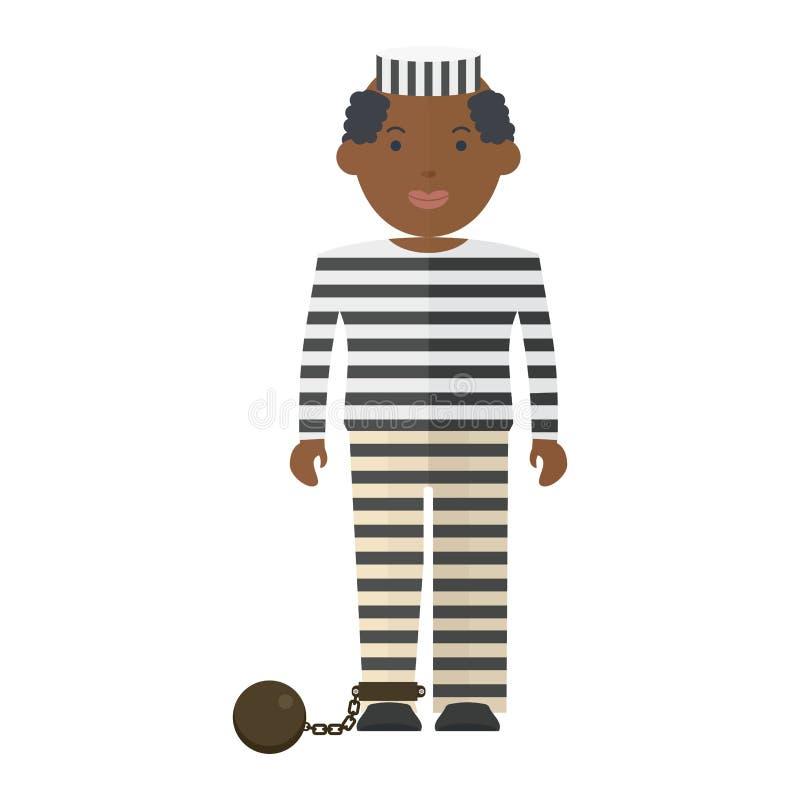 Prisonnier dans l'uniforme illustration de vecteur
