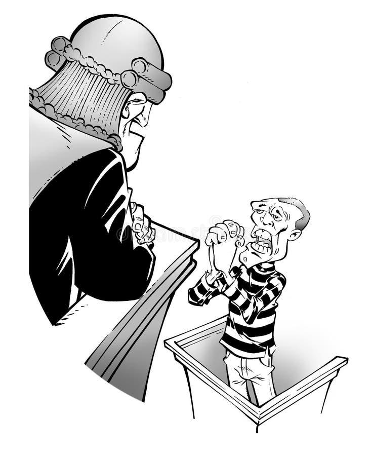 Prisonnier et juge illustration de vecteur