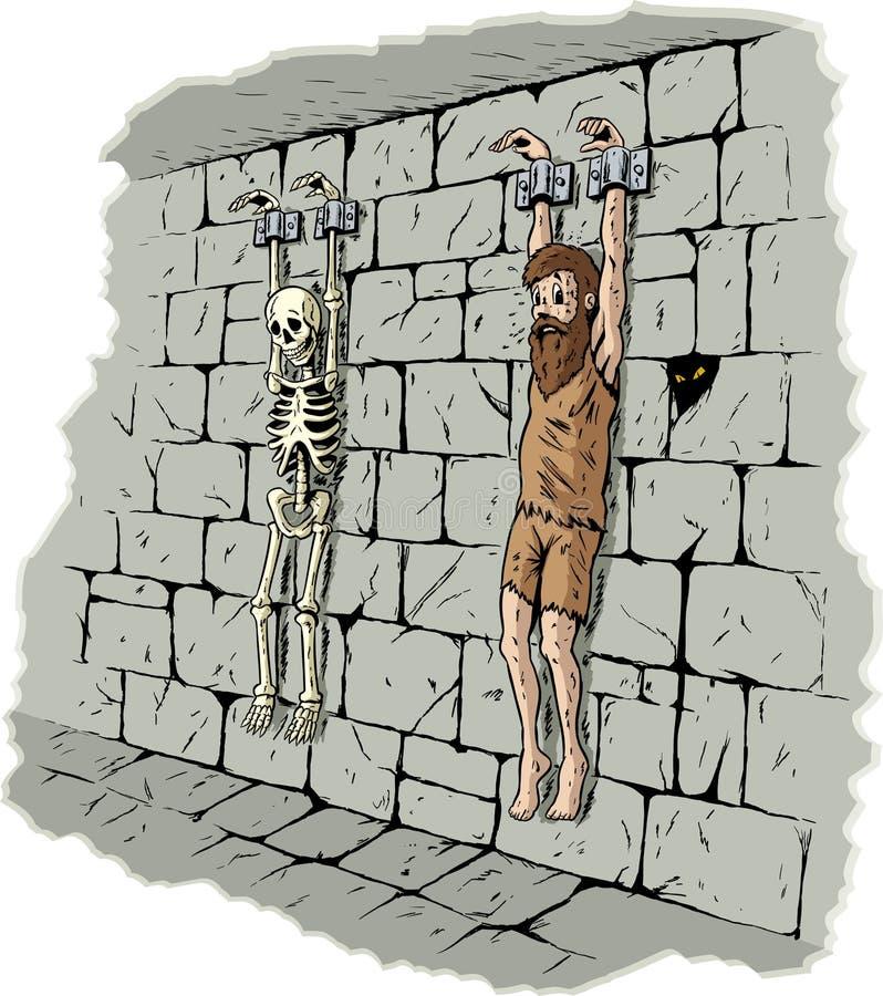 Prisonnier triste illustration libre de droits