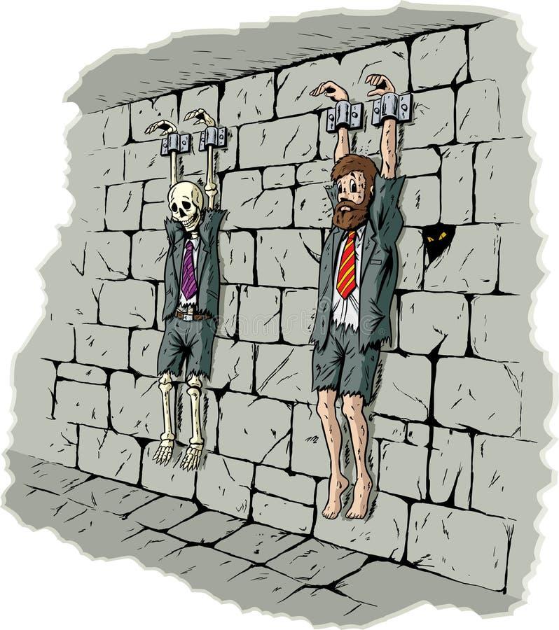 Prisonnier triste d'affaires illustration stock
