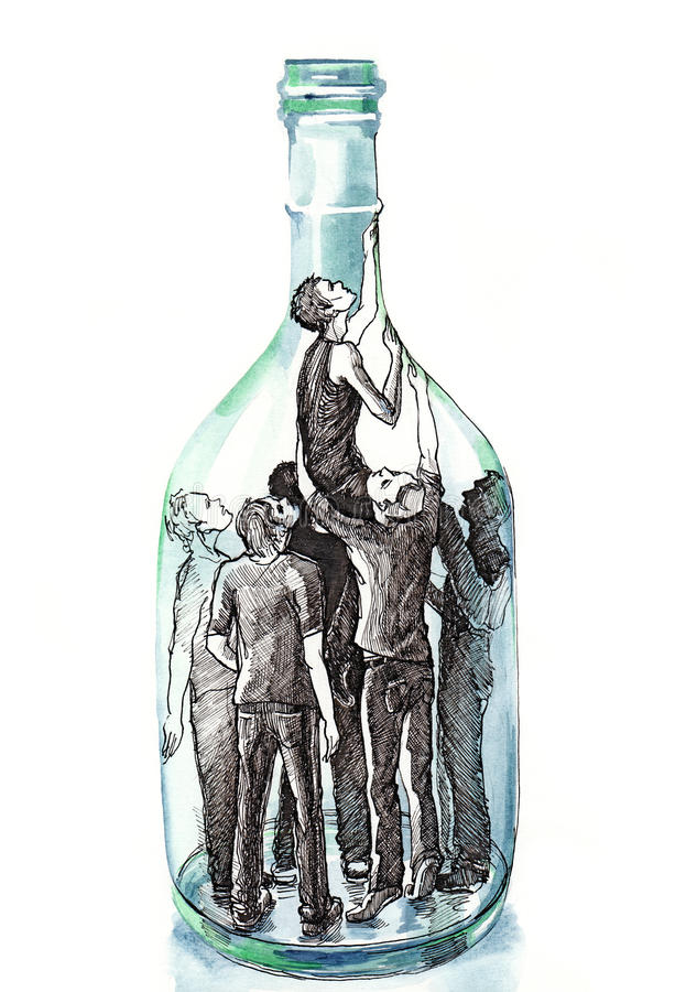 Картинка о вреде алкоголя бутылкой забором, студентка