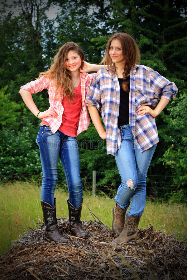 Prissy BFF Girls stock photo. Image of field, common - 50197812