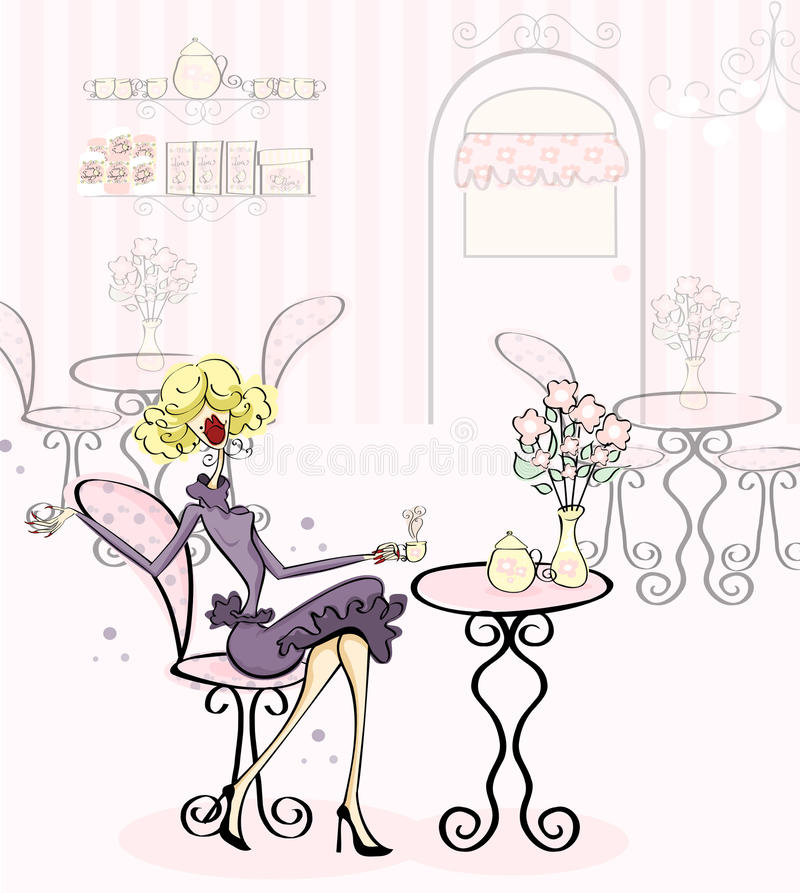 Download Prissy Tea Time stock illustration. Image of prissy, whimsical - 27918116