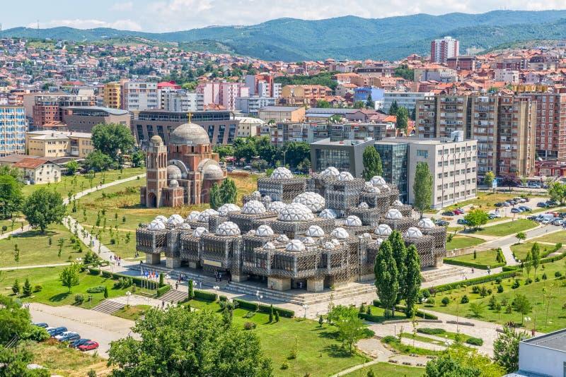 Pristina-Altbauten von der Luft lizenzfreies stockfoto