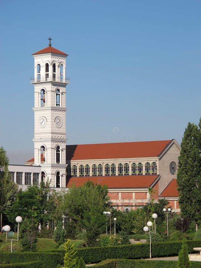 PRISTINA, KOSOVO - JUNI 2016: Roman Catholic Cathedral von gesegneter Mutter Teresa stockbilder