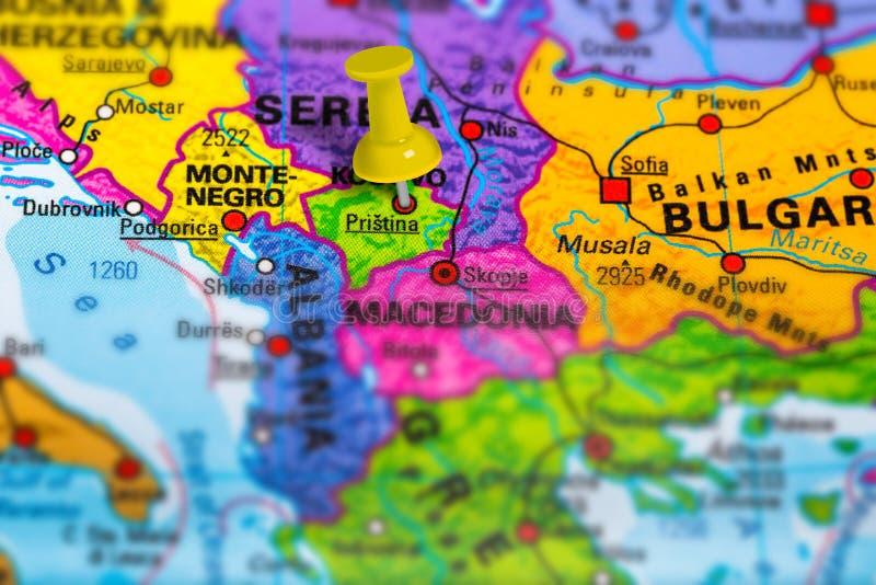 Pristina Kosovo map royalty free stock photos