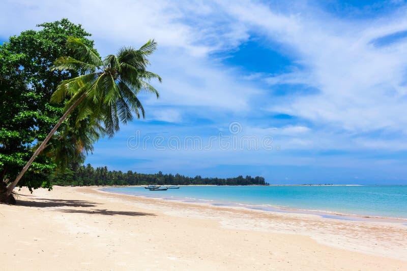 Pristine beach in Khao Lak close to phuket island on the Andaman coast Thailand stock image