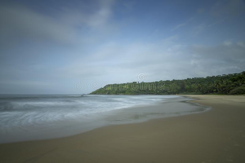 Pristine and less crowded Nivti Beach in Morning, Sindhudurga,Maharashtra,India. Asia stock images