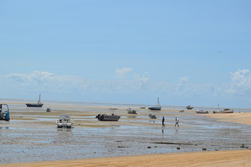 Pristine and Turquoise Portuguese Island near Inhaca Island in Maputo Mozambique. Pristine and Turquoise Portuguese Island beach near Inhaca Island in Maputo stock images