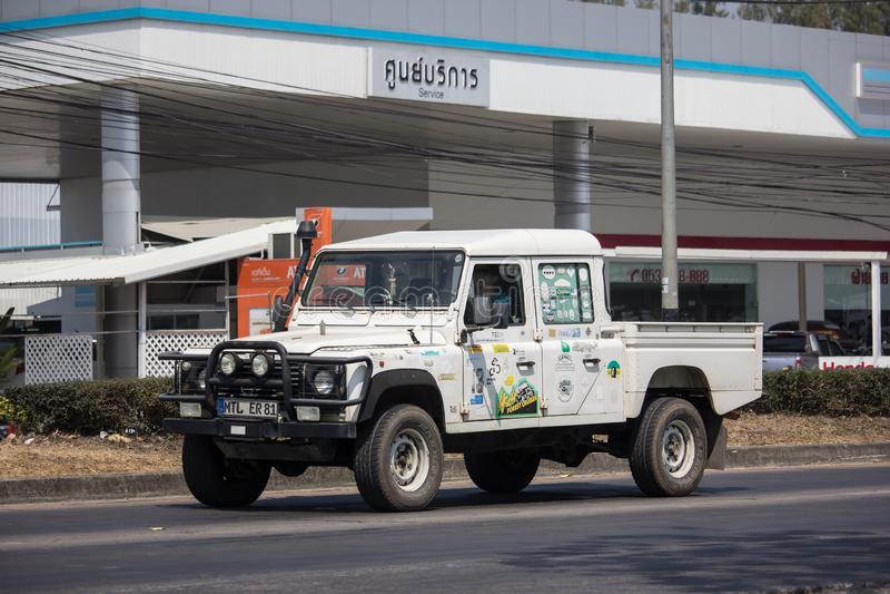 Privé Auto Land Rover Truck royalty-vrije stock afbeelding