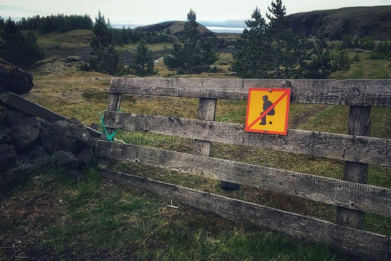 Privé-bezit in IJsland stock afbeeldingen