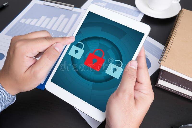 Privé de Veiligheidsbescherming van het PRIVACYbeleid) stock foto