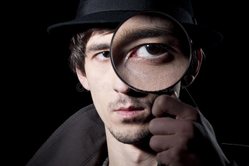 Privé-detective stock foto