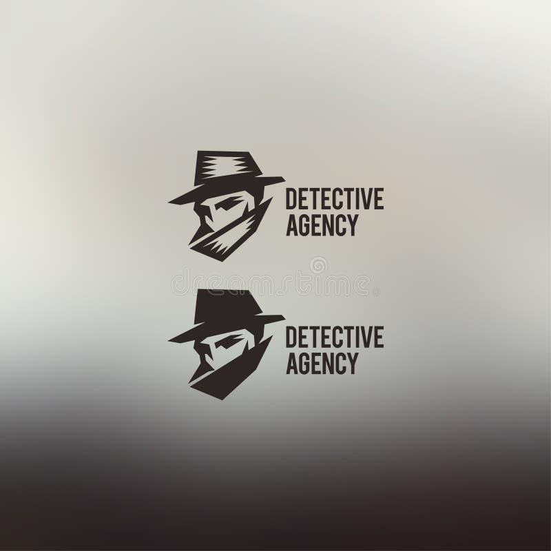 Privé-detective vectorembleem royalty-vrije illustratie