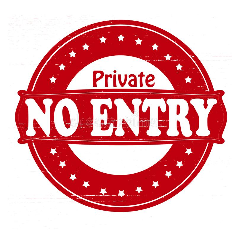 Privé geen ingang royalty-vrije illustratie